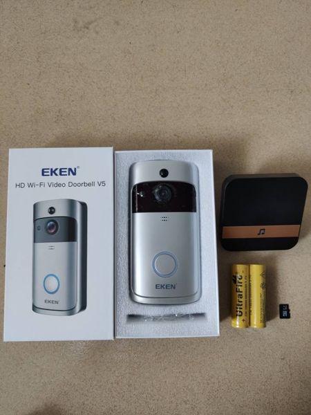 best selling Eken V5 Smart WiFi Video Doorbell Camera Visual Intercom With Night vision IP Door Bell Wireless Home Security Camera