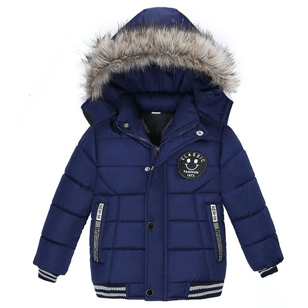 best selling Autumn Winter Baby Cotton Girls Coats and Jackets Fashion Baby Warm Hooded Kids Boy Jackets Outwear Clothes Q1123