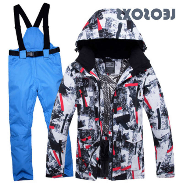 best selling LEOSOXS Suit Winter New Outdoor Windproof Waterproof Thermal Male Snow Pants Sets Skiing And Snowboarding Ski Jacket Men