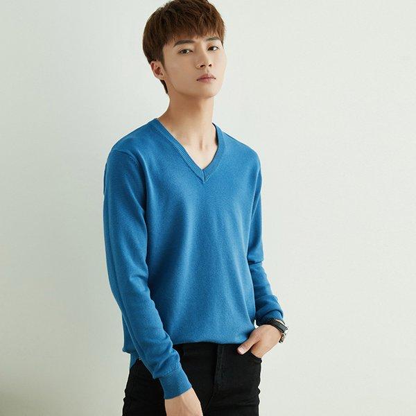 V-Collar Haze Blue