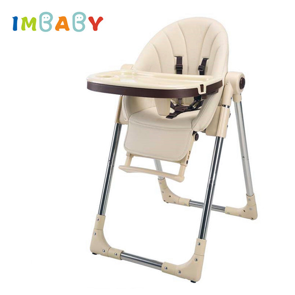 top popular IMBABY Portable Children HighChair Multifunctional Baby Eating Seats Feeding Chair Adjustable Folding Chairs Food Tray Included LJ201110 2021