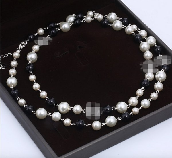 top popular Designers brand pearl necklaces for women long sweater necklace high quality wedding luxury jewelry for best gift free 2021