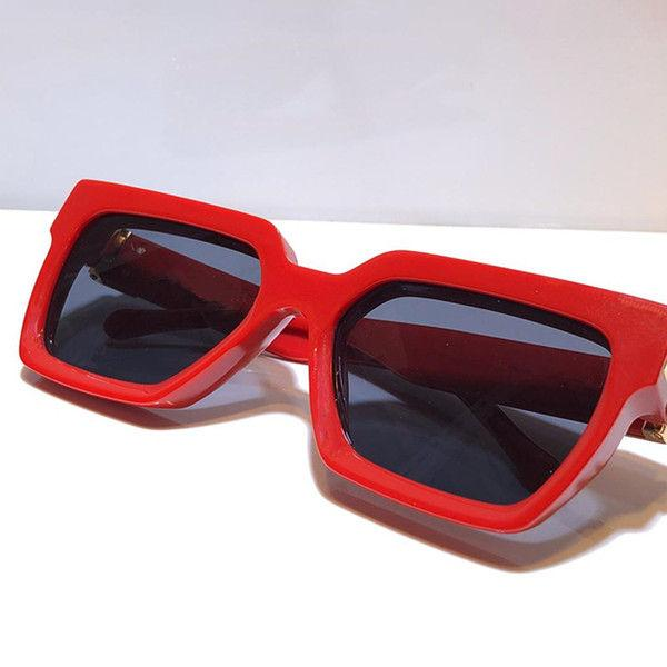 red with gold grey lens