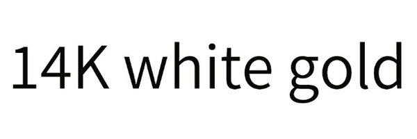 El oro blanco de 14 k