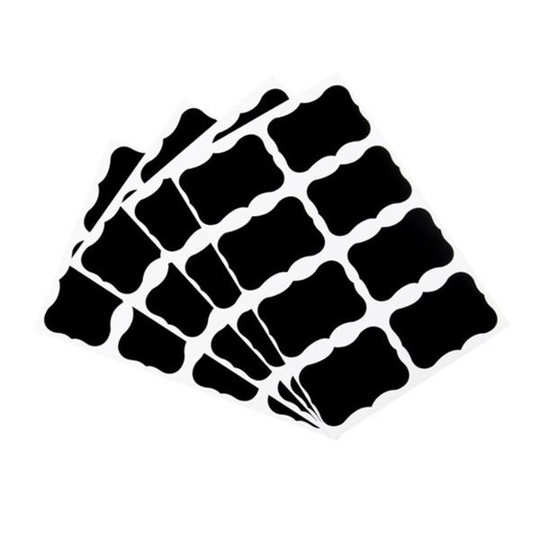 top popular 8PCS DIY Black Chalkboard Stickers Craft Kitchen Jar Decals Blackboard Labels 2016 New Arrival 2021