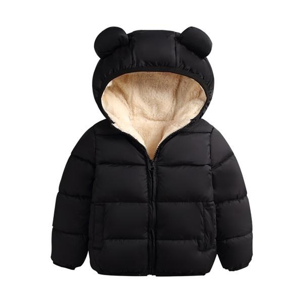top popular Baby Winter Jacket Coat Kids Casual Cute Ear Hooded Down Jacket Overalls Snow Warm Clothes For Children Toddler Boys Girls 2020 Q1123 2020
