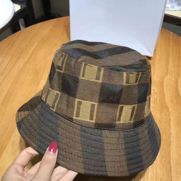 top popular Fashion Plaid Bucket Hat Bonnet Winter Cap Women Designers Caps Hats Mens Womens Beanie Baseball Cap D201203CE 2021