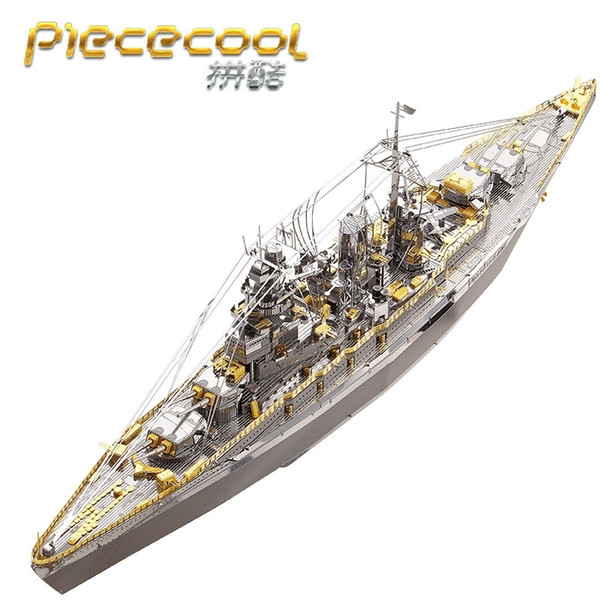 top popular Piececool 3D Metal Puzzle boats models NAGATO CLASS BATTLESHIP DIY Laser Cutting Puzzles Jigsaw Model For Adult Kids Toys Y200421 2021