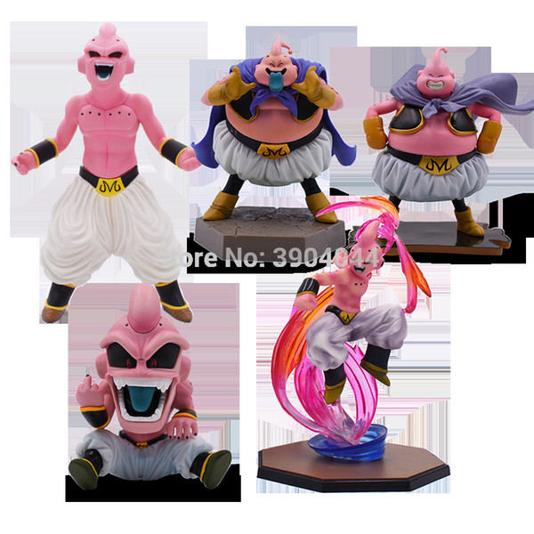 top popular 5 Style 12-30cm ZERO Majin Buu PVC Action Figures DBZ Super Saiyan Figure PVC Collectible Model Toys Q1217 2021