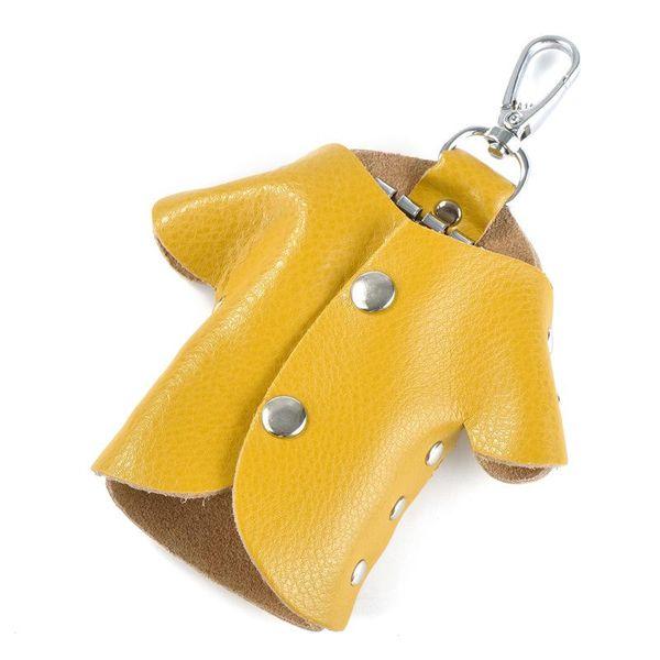 Bolsa de llavero amarillo