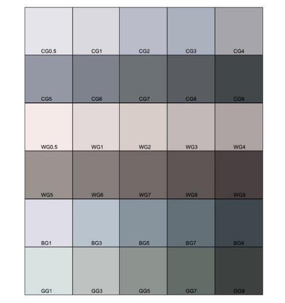 30 colori Grey