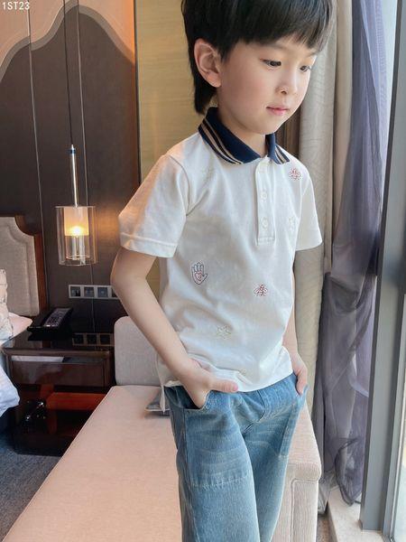 top popular Hot Summer Kids Polo Shirt Tops Cotton Turn Down Collar Cotton Short Sleeve White Sport Polos Boys girls Shirts tops 2021