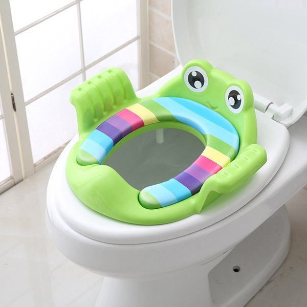 top popular Baby Child Potty Toilet Trainer Seat Step Stool Ladder Adjustable Training Chair Comfortable Cartoon Cute Toilet Seat for Childr LJ201110 2021
