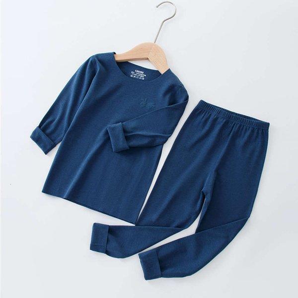 Vestito in pelle scamosciata blu scuro