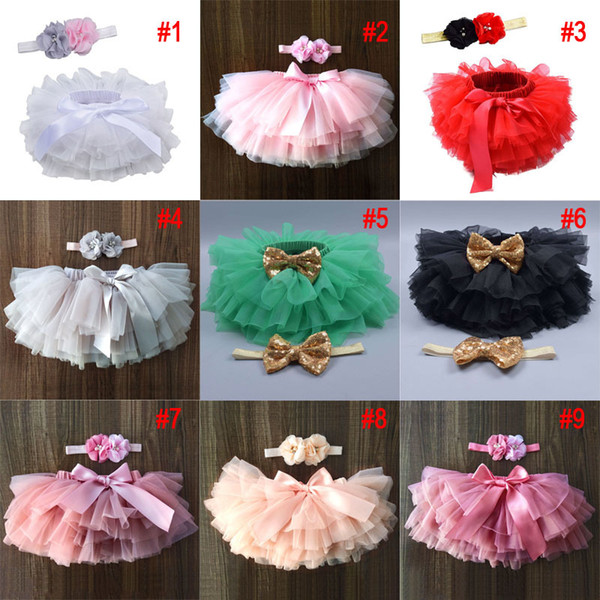 top popular Baby Girls Tutu Skirt Bow Gauze Skirts With Headband PP Shorts Skirt Kids Casual Girls Clothes Baby Princess Skirts 0-3T 2021