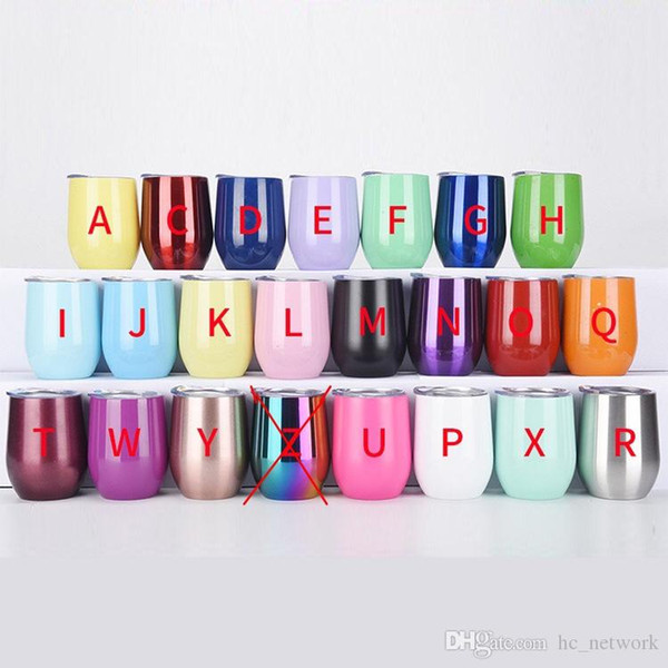 top popular 12oz Wine Tumbler Stainless Steel Insulated Tumbler Coffee Mugs stemless Wine Glass For Wedding Christmas Gift 2021