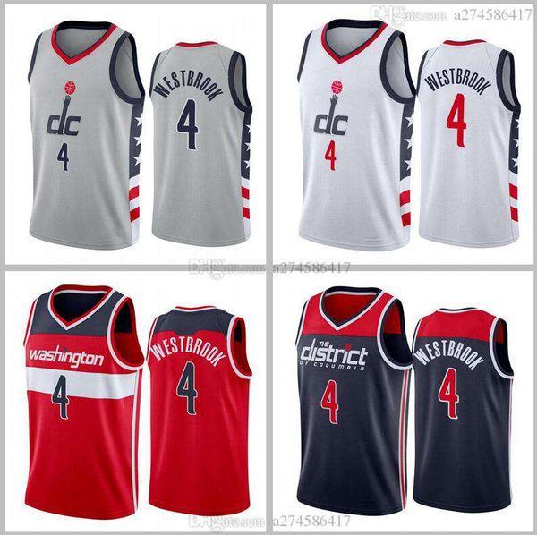 Men basketball WashingtonWizards4 RussellWestbrook black red white 2020-21 City Jersey