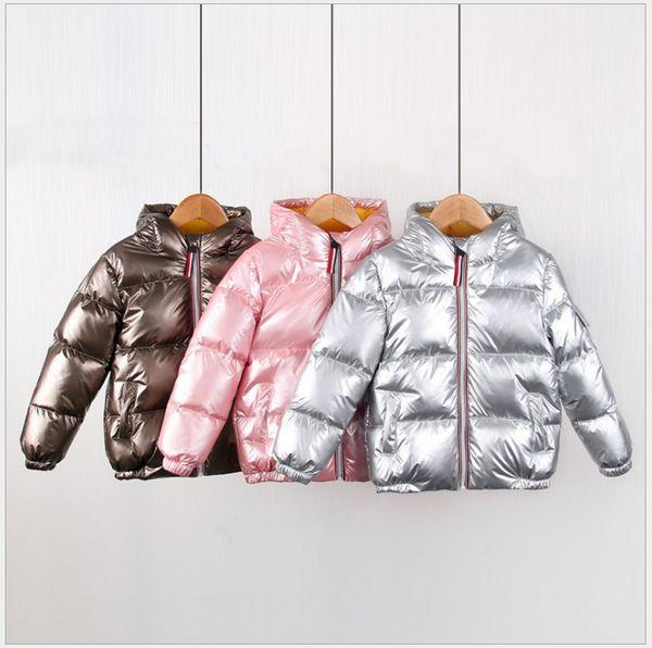 best selling 2021 New Arrivals Children Hooded Down Coat Jacket Autumn Winter Boys Girls Cotton-padded Parka & Coats Thicken Warm Jackets Kids Outwear