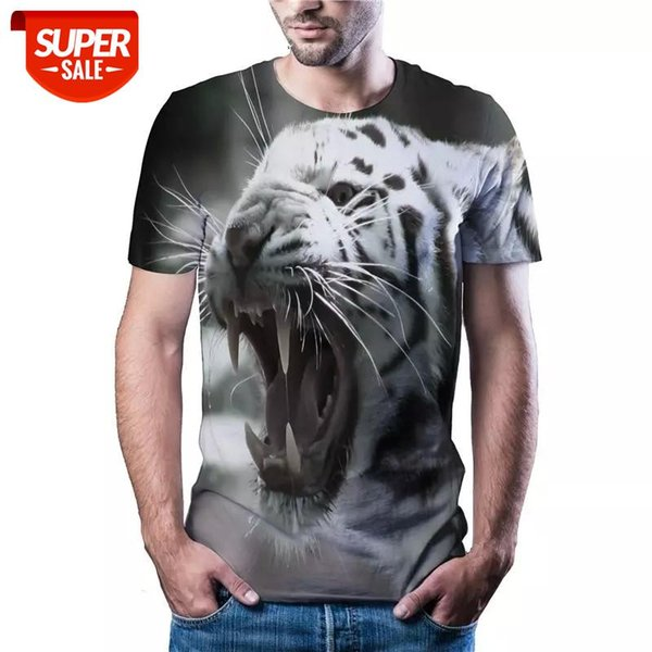 top popular latest hot sale tiger head T-shirt casual sports Harajuku T-shirt Asian size code color printed 3DT shirt XXS 6XL #l34D 2021