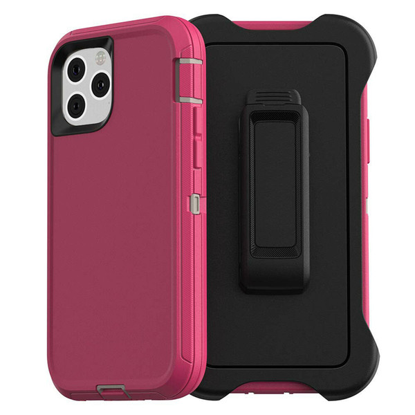 top popular 3 in 1 Armor Case For iPhone 11 Pro Max X XR XS Max Hybrid Shockproof Defender Heavy Duty Protection Case Cover + Belt Clip 2021