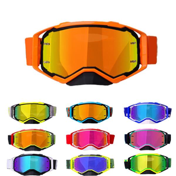 top popular 20211 Set High-Definition Motocross Goggles Combination Mountain Bike Dirt ATV MX Goggles Off-Road Racing Helmet Glasses 2021