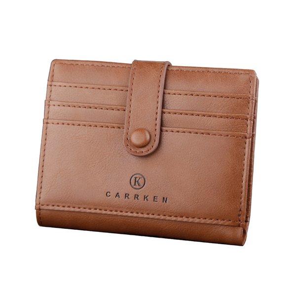 014 bolsa de botón marrón claro