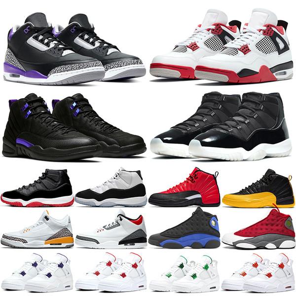 best selling Jumpman 4 Men Women 11 Basketball Shoes 12 Fire Red Jubilee 25th Anniversary Dark Concord Court Purple Metallic Mens Trainers Sport Sneakers