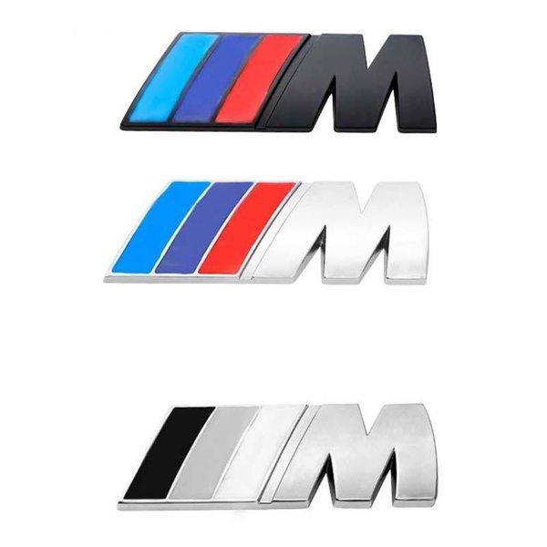 top popular New Fashion Large Car Sticker    M Power Emblem Badge Decals Stickers For BMW e36 e39 e46 e60 e87 e92 e30 8.3cm*3.1cm 2021