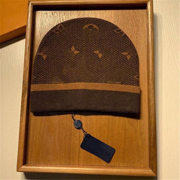 top popular 2021 fashion mens designers hats bonnet winter beanie knitted wool hat plus velvet cap skullies Thicker mask Fringe beanies hats BB 2021