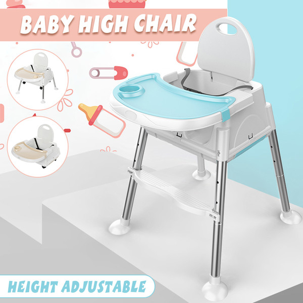 top popular 3 in 1 Modern Multifunctional Baby High Chair Feeding Seat Adjustable Kid Booster Seat Play Table Portable Children Safety Seat LJ201110 2021