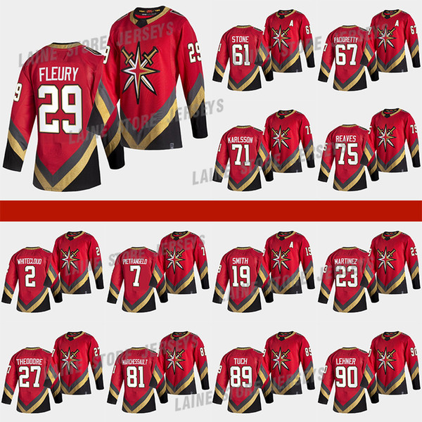best selling Vegas Golden Knights 2021 Reverse Retro Jersey 61 Mark Stone 29 Marc-Andre Fleury 71William Karlsson 7 Pietrangelo 75 Reaves Hockey Jerseys