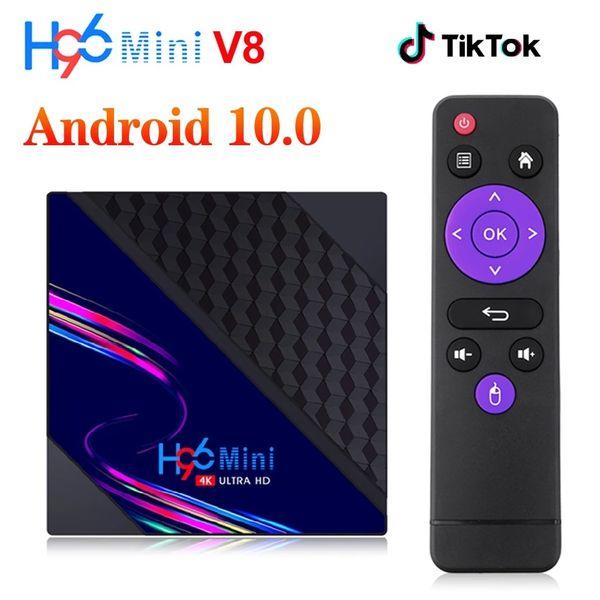 top popular H96 Mini V8 RK3228A Android 10.0 tv Box 2GB+16GB 2.4G Wifi HD 4K PK T95 X96Q Media Player 2021