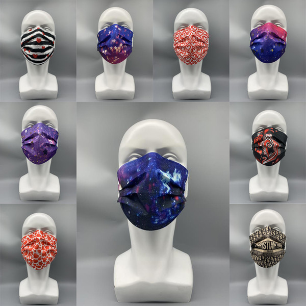 best selling 58 Style Brand Designer Anti-Dust Mouth Masks Disposable Face Mask Multicolor Dustproof Protective Adult Man Woman PBT Melt-blown Nonwoven