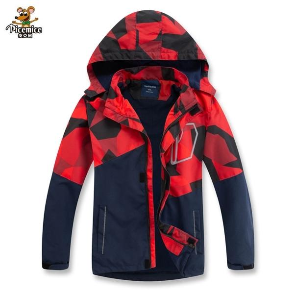 top popular 2020 Autumn Winter Outerwear Windbreaker Children Jacket For Kids Hooded For Boys Coat Girls Waterproof Coat Detachable Cap Q1123 2020