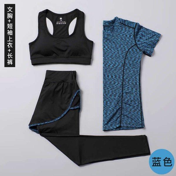 Синий с коротким рукавом + жилет + капри