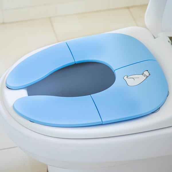 best selling Children's Pot Portable Potty Training Seat Folding Baby Potty For Kids Cartoon Travel Baby Toilet Seat For Boys And Girls LJ201110