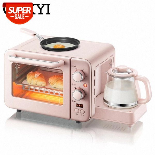 best selling CUKYI Multifunction 3 in 1 breakfast machine 8L Electric mini Oven Coffee maker eggs frying pan household bread pizza oven grill #Xr2o