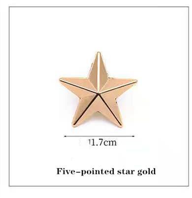 Cinco puntas estrella de oro