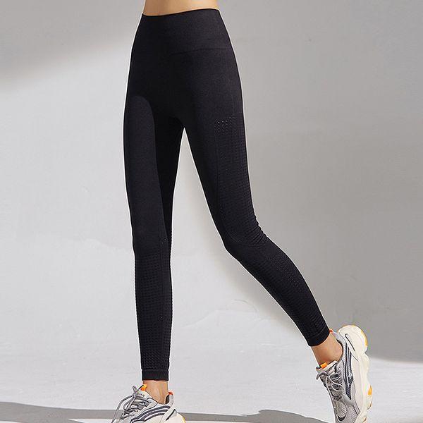 top popular Hot Sale! New Yoga Leggings Peach Hip Nude Feeling Nylon High-bounce Sports High-waisted Fitness Girl 2021