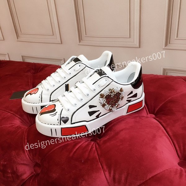 2021top new Mans arrival Casual Shoes White Black Red Fashion Mens Women Leather Breathable Shoes Open Low sports Sneakers hc191009