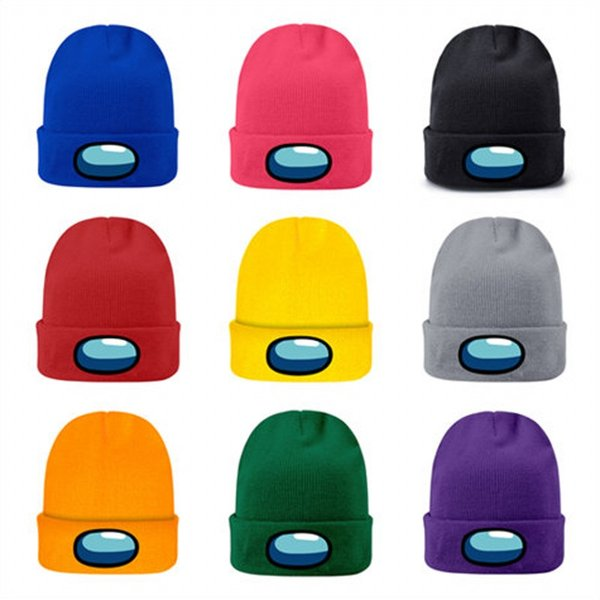 top popular 2021 Us Hot Game Knitted Among hat Cap Model Among Us Game Hip hop hat Keep Warm gift beanies for men women 2021
