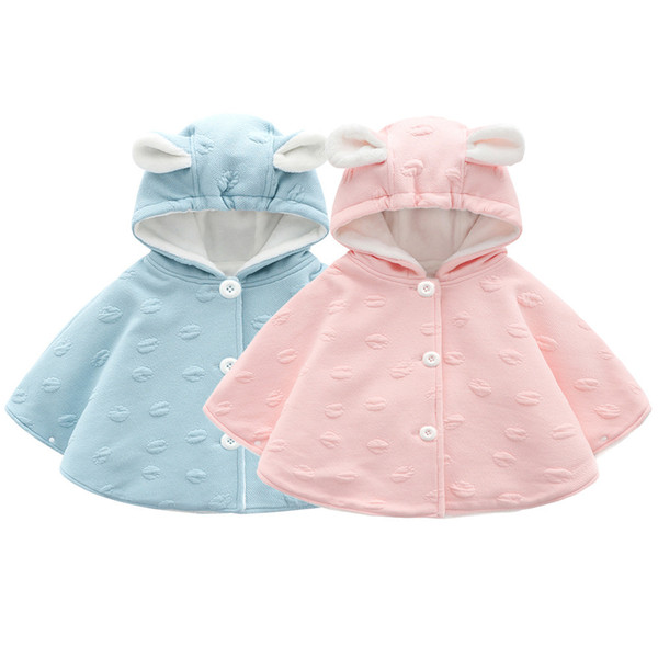 best selling New Year Baby Girls Christmas Coat Girls Wool Cloak Boys and Girls Jackets Kids Hooded Outerwear Coat Children Windproof Clothes Q1123