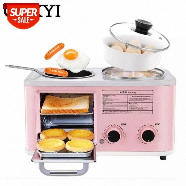 best selling CUKYI Electric 3 in 1 Household Breakfast machine mini bread toaster baking oven omelette fry pan hot pot boiler food steamer EU #JB3a