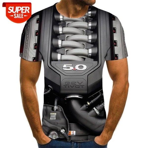 top popular Summer 3D Men Inner Motorcycle T-Shirt Punk Clothes Retro Mechanical Clothing T-shirt Tops Tees Men 3d T-shirt #At73 2021
