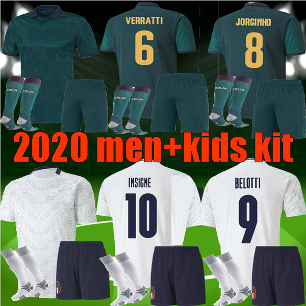 men kids 20 21 Ital Soccer Jerseys INSIGNE IMMOBILE 2020 2021 DE ROSSI Third Renaissance BELOTTI TOTTI adult boys Football Kits Shirt