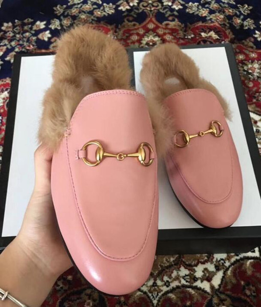 best selling 2019 new Designer luxury Women Summer Lace Velvet Slippers Genuine Leather Mules Loafers Flats With Buckle Bees Snake Pattern