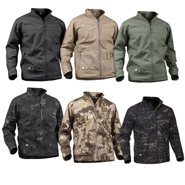 top popular Outdoor Sports Woodland Hunting Clothing Shooting Coat Tactical Combat Clothing Camouflage Windbreaker Tactical Outdoor JacketNO05-208 2021