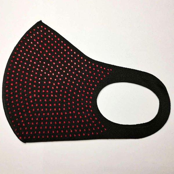 2073 Negro Rojo Diamante-One Tamaño # 51305