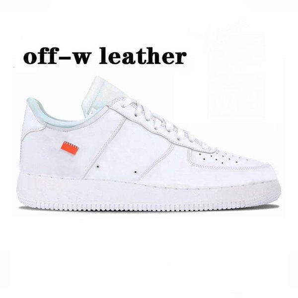 42 Offft-weißes weißes Leder