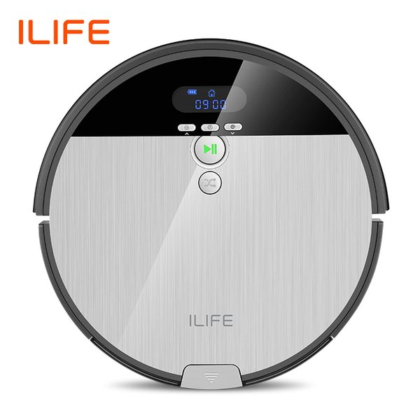 top popular ILIFE V8s Robot Vacuum Cleaner Sweep&Wet Mop Navigation Planned Cleaning 750ml Dustbin Adjustable Water Tank Schedule Household Y200320 2021